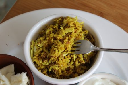 White Cabbage with Mustard Seeds & Turmeric